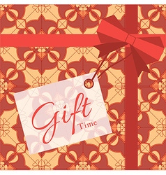 Gift with geometric patterns vector