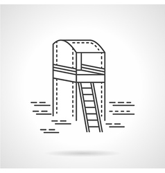Observation tower line icon vector