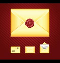 Mail sealing wax vector