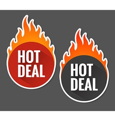 Hot price labels vector