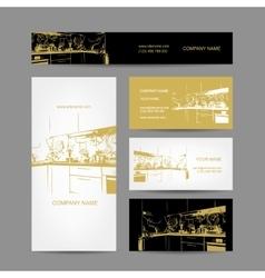 Business cards design kitchen sketch vector image