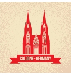 German city cologne travel symbol vector