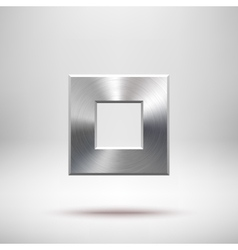 Abstract Square Button Template vector image