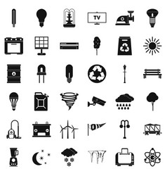 Agriculture icons set simple style vector