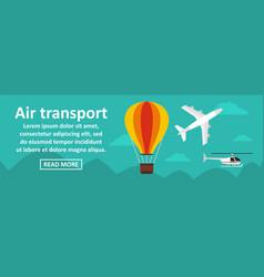 Air transport banner horizontal concept vector