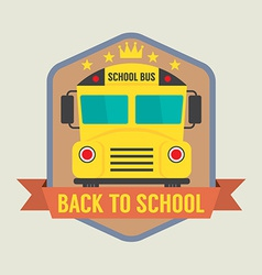 Back to School Badge vector image