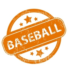 Baseball grunge icon vector