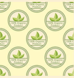 bio farm organic eco healthy food seamless pattern vector image