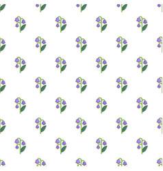 Blue bell flower pattern vector