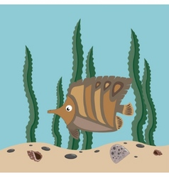 Brown fish vector