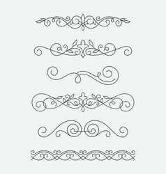 calligraphic decorative elements vector image vector image