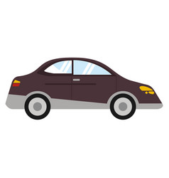 car sedan vehicle transport vector image