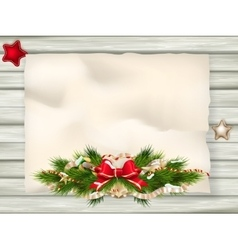 Christmas fir tree border eps 10 vector