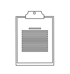 Clipboard with board icon image vector