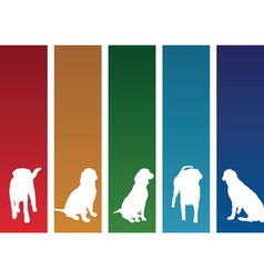 colourful dogs vector image vector image