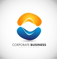 Corporate business abstract logo icon design vector