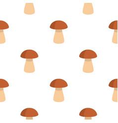 Fungus boletus pattern flat vector