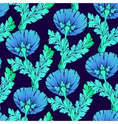 Garden flowers seamless hand-painted soft gradient vector