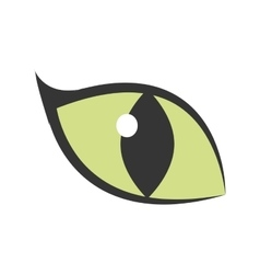 Green eye big cat glowing icon vector