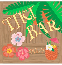 Hawaii Bar Poster vector image