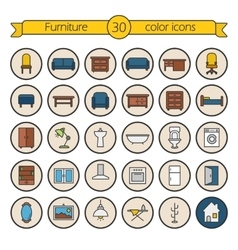 House furniture icons vector