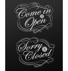 Image of various open and closed business vector image