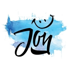 Joy calligraphy lettering t-shirt vector