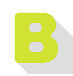 Letter b sign design template element pear icon vector