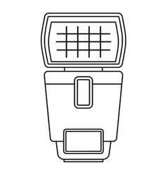 Lighting flash for camera icon outline style vector