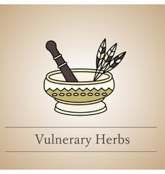 Logo of a mortar for herbs vector
