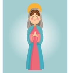 Mary cartoon design vector