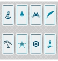 nautical invitation card set vector image vector image