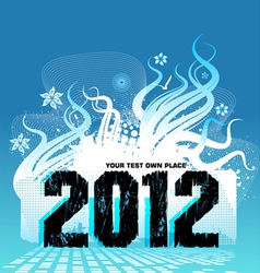 new year design 2012 vector image vector image