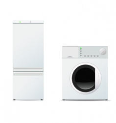 refrigerator and washing machine vector image