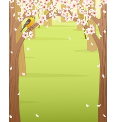 Spring forest vector