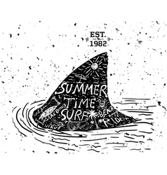 Summer design grunge style vector image vector image