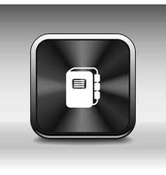 web button Flat design with shadow button vector image vector image