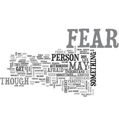 What is fear text word cloud concept vector