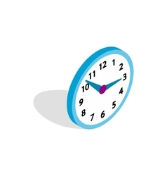Office clock icon isometric 3d style vector