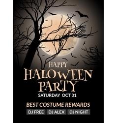 Halloween flyer or poster design template vector image