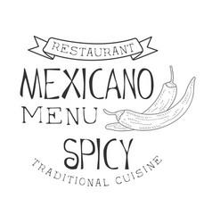 Restaurant traditional quisine mexican food menu vector