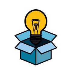 big idea bulb symbol vector image