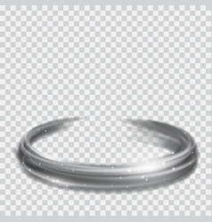 Gray glowing fire rings with glitters vector