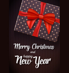 Marry christmass greeting card vector