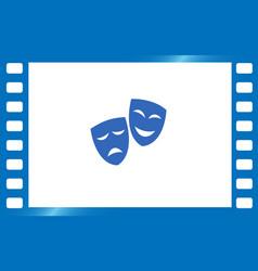 theater masks art vector image