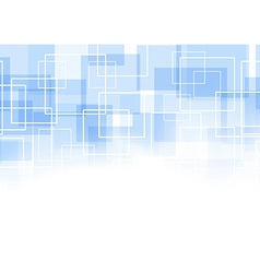 Geometrical blue square background vector image