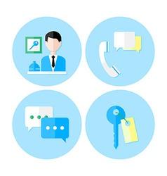 Personal service icon set vector