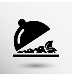 Menu design food cooking dishes kitchen logo vector