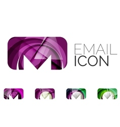 Set of abstract email icon business logotype vector