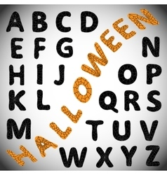 Halloween alphabet abc vector
